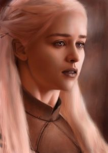 A Digital Painting I did of the Beautiful Emilia Clarke From Game of Thrones