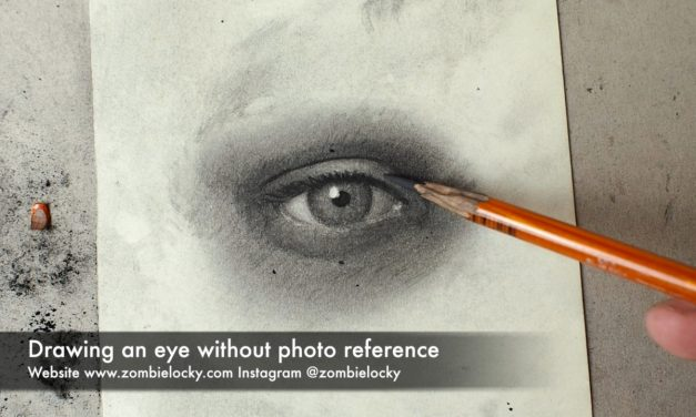 How to Draw Realistic Eyes in Charcoal without Photo Reference
