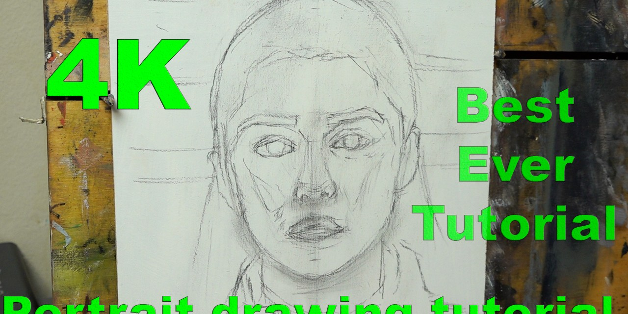 How to draw a portrait to paint or draw on