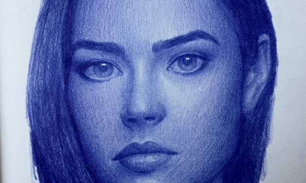 Speed Drawing a Portrait of Denise Richards In 4K