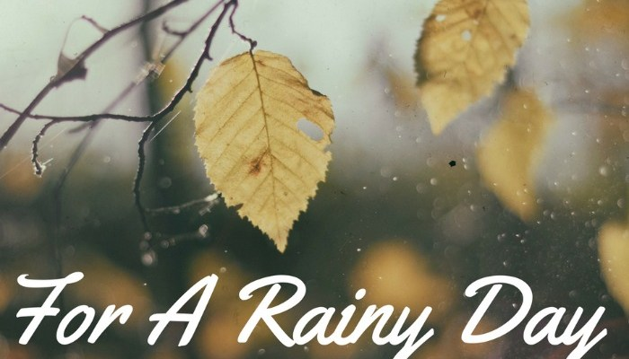 $250 For A Rainy Day Cash Giveaway