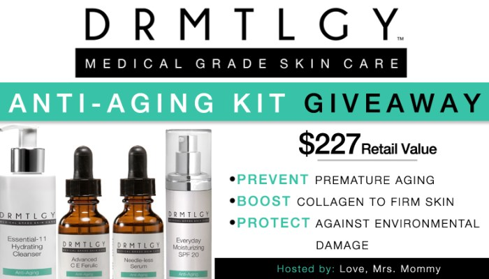 DRMTLGY Anti-Aging Kit Giveaway!