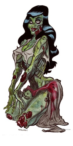 zombie pin ups zombie girls 137
