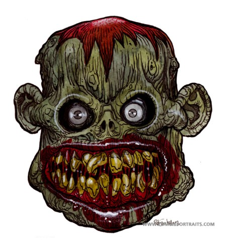 teeth zombie artwork
