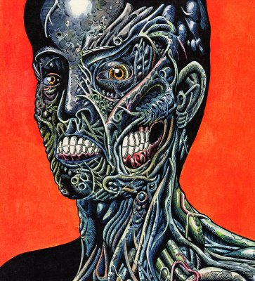 Tattoo You Album Cover Zombified Circa 2001 Zombie Art By Rob