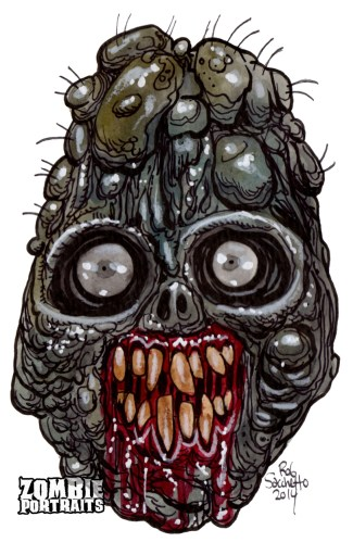 worn down nub zombie head