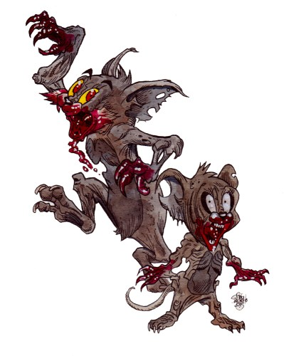 zombie art tom and jerry