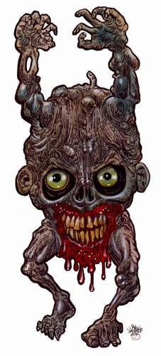 Zombie Art : HEAD of the LIVING DEAD #700 The Walking Head!