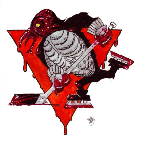 Zombie Art : Sports Logos of the Living Dead Pittsburgh Penguins NHL Zombies!