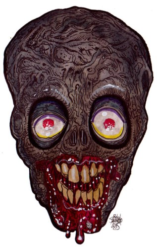 Zombie Art : Hungry Blood Eyed Zombie - Zombie Art by Rob Sacchetto