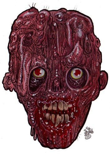 Zombie Art : Mutant Zombie Beginnings - Zombie Art by Rob Sacchetto