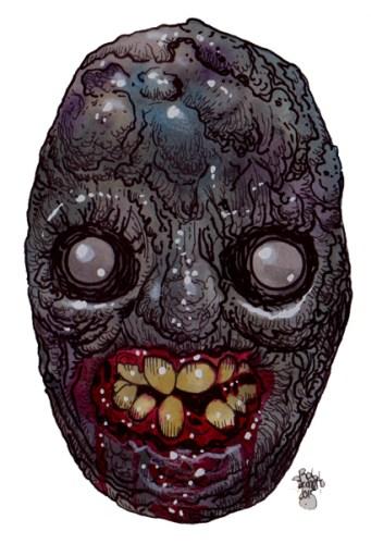 Zombie Art : Unearthed Zombie Head - Zombie Art by Rob Sacchetto