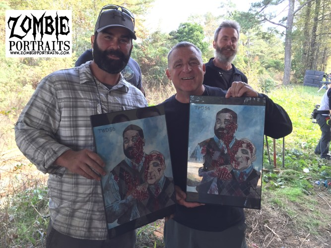 Special Zombie 'Walking Dead' Portrait Post Today! - Zombie Art by Rob Sac