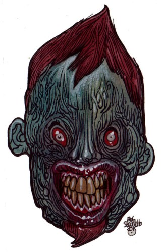 zombie art internet troll zombie head zombie art by rob sacchetto