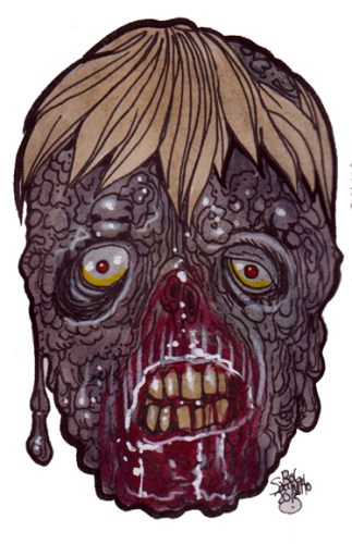 Zombie Art Sludge Head Zombie Zombie Art by Rob Sacchetto