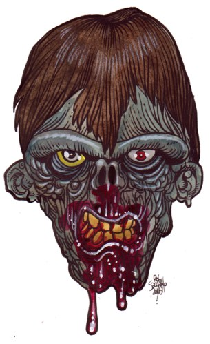 Zombie Art : Cave Brow Zombie Zombie Art by Rob Sacchetto