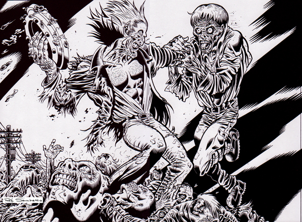 Zombie Art : Vampire vs. Zombies! Zombie Art by Rob Sacchetto
