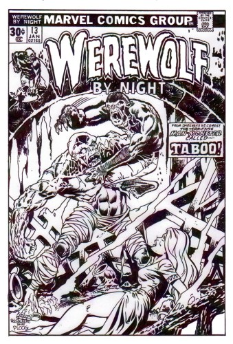 Zombie Art : Werewolf By Night Cover Zombie Art by Rob Sacchetto