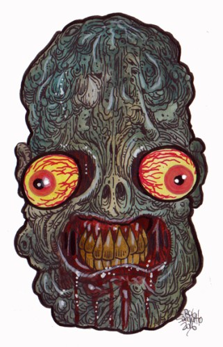 Zombie Art : ARGH Head Zombie Art by Rob Sacchetto