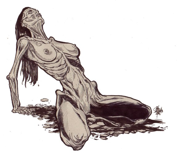 Zombie Art : Zombie Pinup #228 Zombie Art by Rob Sacchetto
