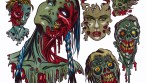 Zombie Art : Zombie Tattoos #2 Zombie Art by Rob Sacchetto