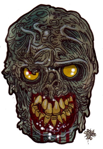 Zombie Art : Gristle Head Zombie Art by Rob Sacchetto
