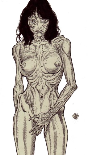 Zombie Art : Melania Trump Nude! Zombie Art by Rob Sacchetto