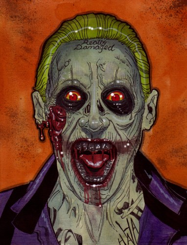 Zombie Art : Suicide Joker Zombie Zombie Art by Rob Sacchetto