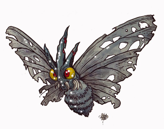 Zombie Art : Venomoth Pokemon GO! Zombie Art by Rob Sacchetto