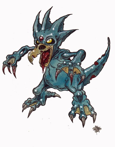 Zombie Art : Golduck Pokemon Zombie Art by Rob Sacchetto