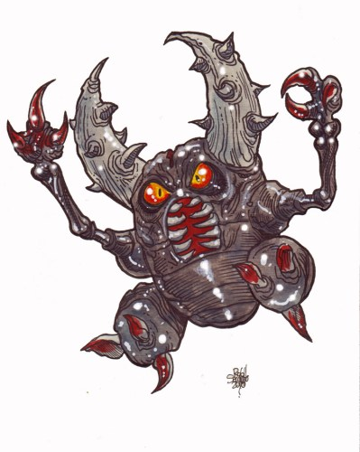 Zombie Art : Pinsir Pokemon Zombie Art by Rob Sacchetto
