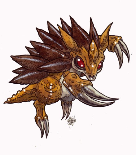 Zombie Art : Sandslash Pokemon Zombie Art by Rob Sacchetto