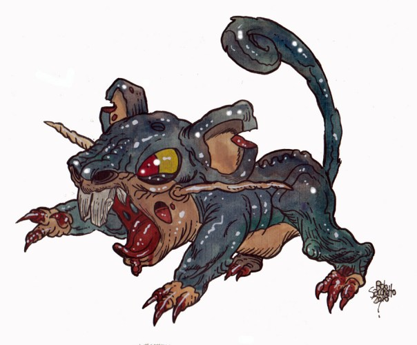 Zombie Art : Rattata Pokemon Zombie Art by Rob Sacchetto