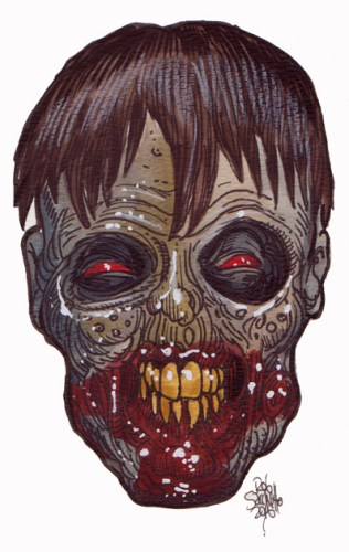Zombie Art : Squint Eye Zombie Art by Rob Sacchetto