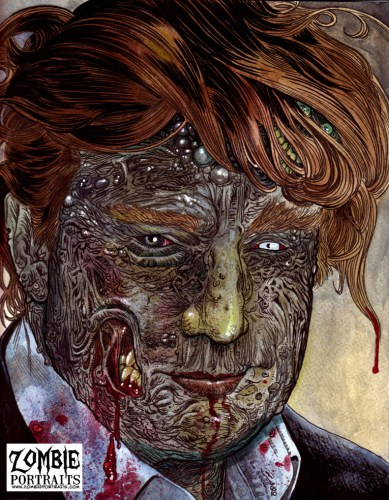 Zombie Art : Trump Zombie Zombie Art by Rob Sacchetto