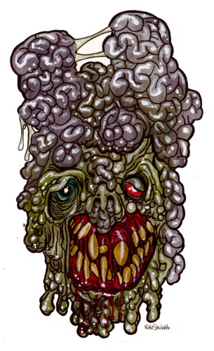Zombie Art : Brain Fart Zombie Art by Rob Sacchetto