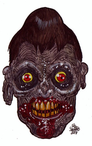 Zombie Art : Mad Tatter Zombie Art by Rob Sacchetto