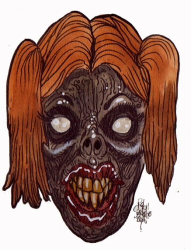 Zombie Art : Rotten Strawberry Blonde Zombie Art by Rob Sacchetto