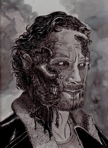 Zombie Art Rick from the Walking Dead Zombie Art by Rob Sacchetto
