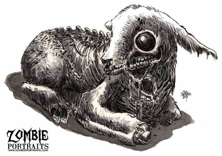 Zombie Art : Lamb Zombie Art by Rob Sacchetto