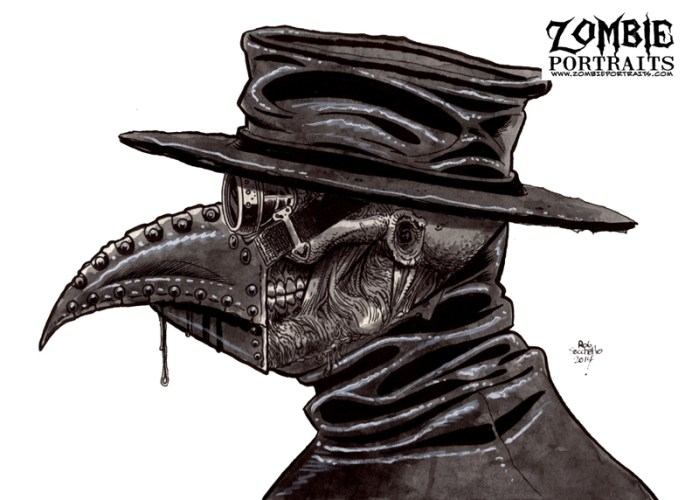 Zombie Art : Plague Doctor 2 Zombie Art by Rob Sacchetto