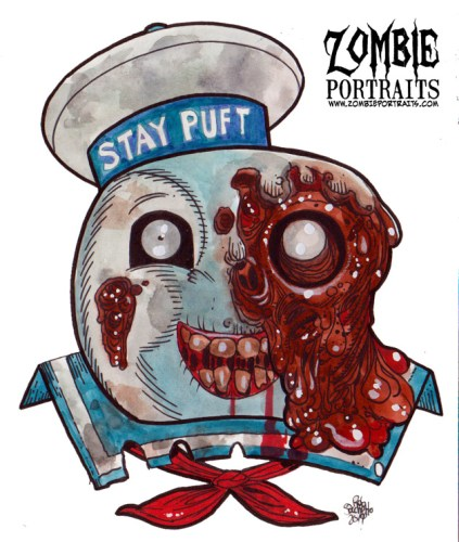 Zombie Art : Stay Puft Zombie Art By Rob Sacchetto