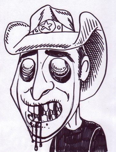 Zombie Art Zombie Caricatures! Zombie Art by Rob Sacchetto