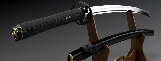 NEW Japan  tsuba Musashi Imitation Japanese Sword samurai katana  goods