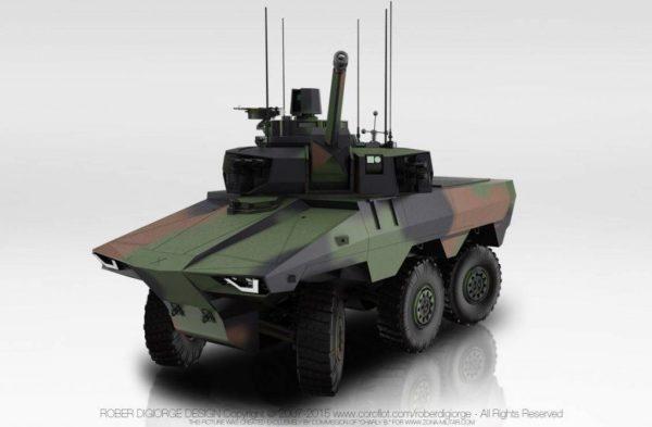 El futuro EBRC Jaguar será el resultado de un trabajo conjunto de diferentes organismos estatales franceses en conjunto con empresas de la industria militar europea. Imagen: RoberD.