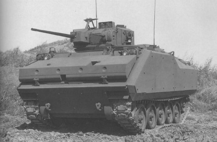 Una de las propuestas para el MICV: El FMC XM-765. Pese a no encontrar lugar en el US Army, este modelo sería exportado a Holanda bajo la denominación YPR-765. Imagen: Aberdeen Proving Grounds