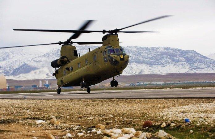 CH-47F Chinook de la 1st Cavalry Division operando en Afganistán. Imagen: US Army.