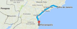 route rio de janeiro - florianopolis