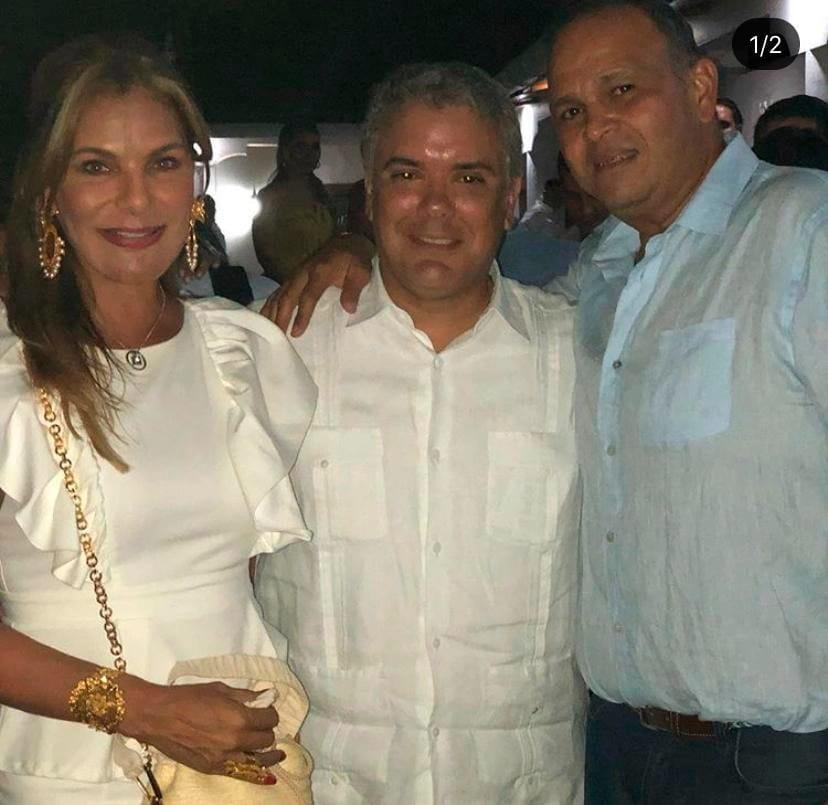 María Mónica Urbina, Iván Duque y José Guillermo 'El Ñeñe' Hernández.