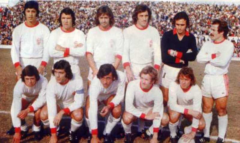 Foto d'epoca dell'Huracan campion d'Argentina